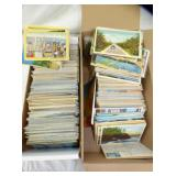 HUNDREDS OF EARLY POSTCARDS