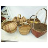 VARIOUS SPLIT OAK BASKETS