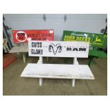 4FT. AD. PHILLIPS 66/JD/RAM BENCHES