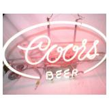 VIEW 2 CLOSEUP COORS BEER NEON SIGN