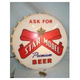 14IN LIGHTED STAR MODEL CAP SIGN