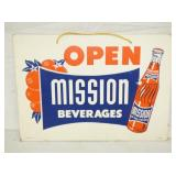 10X14 MISSION ORANGE CARDBOARD SIGN