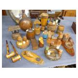 NATIVE AMERICANA WOODEN TRADE ITEMS