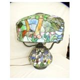 STAINED GLASS PARLOR LAMP
