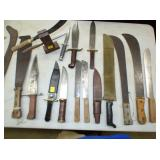 SEV. HANDMADE KNIVES AND OTHERS