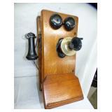 KELLOGGS OAK WALL PHONE