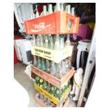SODA BOTTLES AND CRATES