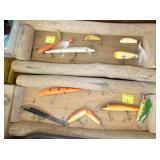 EARLY WOODEN FISHING LURES