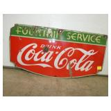 14X27 EMB COKE FOUNTAIN SIGN