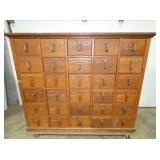 46X57 OAK FILE W/ 30 DRAWERS