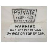 12X25 PROC WARNING SIGN, 12X18 EMB