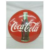 24IN PAINTED TIN COKE BUTTON