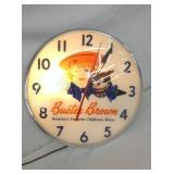 16IN BUSTER BROWN SHOE CLOCK