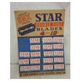 9X12 STAR RAZOR BLADE DISPLAY