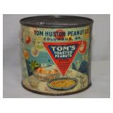 VIEW 2 BACKSIDE TOMS PEANUT TIN