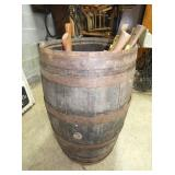 55G OAK BARREL