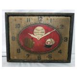 16X19 EARLY METAL BASEBALL CLOCK