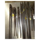 16-25IN BLACKSMITH MADE TONGS