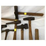 EARLY BLACKSMITH MADE HAMMERS