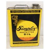 UNUSUAL1G SIMPLEX PROJECTOR OIL TIN