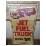 34X57 CARDBOARD TEXACO JET FUEL SIGN