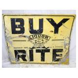 47X60 BUY RITE LICKER SIGN