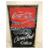 28X46 COCA COLA MENU SIGN