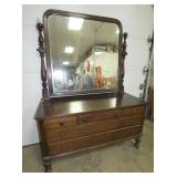 MAH LOW BOY DRESSER W/ MIRROR