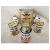 SERVICE , TOP C LUBE GULF PRIDE CANS