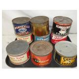 1LB VARIOUS ADV. COFFEE TINS