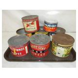 VARIOUS ADV. COFFEE TINS