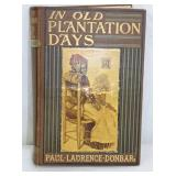 1903 OLD PLANTATION DAYS BOOK