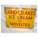 12X17 LAND O LAKES ICE CREAM SIGN