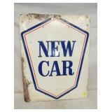 22X28 EMB. NEW CAR SIGN