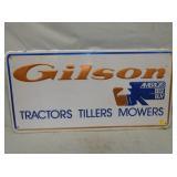 18X37 EMB. GILSON TRACTORS SIGN