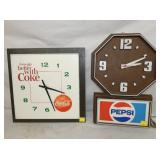 COKE AND PEPSI CLOCKS