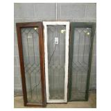 16X59 LEADED GLASS WINDOW PANELS