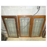 18X38 LEADED GLASS PANELS