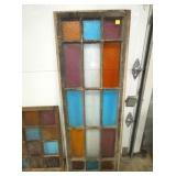 27X60 STAINED GLASS WINDOW