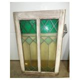 STAINED GLASS DOUBLE WINDOW