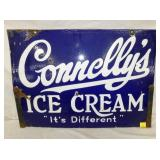 20X28 PORC. CONNELLYS ICE CREAM SIGN