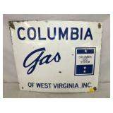 20X24 PORC. COLUMBIA GAS SIGN
