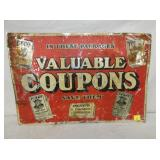 16X23 VALUABLE COUPONS SIGN
