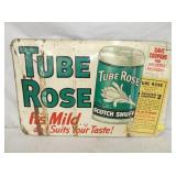 18X28 EMB. TUBE ROSE SIGN