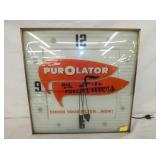 15IN PUROLATOR FILTERS PAM CLOCK