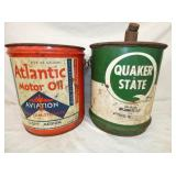 5G. ATLANTIC, QUAKER STATE CANS