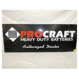 16X42 PROCRAFT BATTERIES SIGN