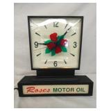 ROSES MOTOR OIL COUNTER CLOCK