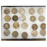 20 MORGAN AND PEACE SILVER DOLLARS