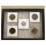 1943 D DIME, 71-72 1/2 DOLLARS